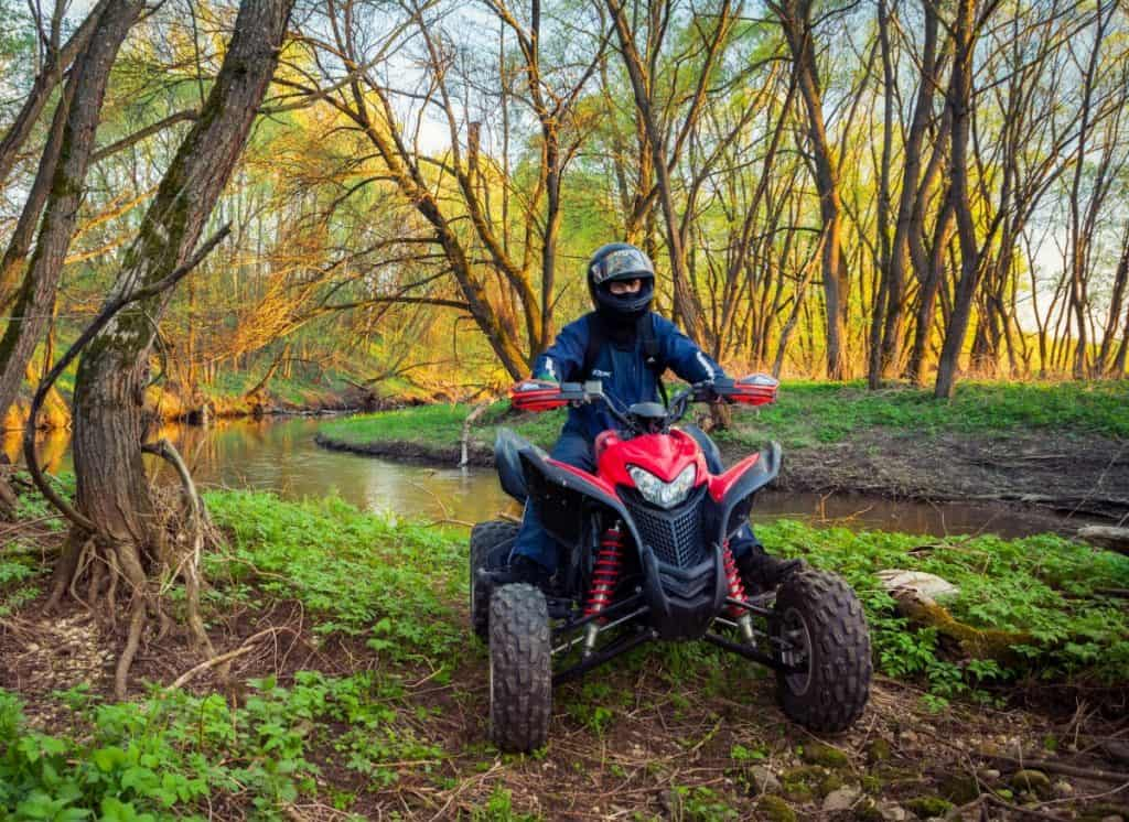 ATV Rider in the action on Honda TRX700XX two